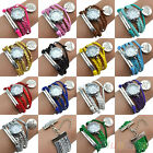 All Match Womens Girls Letters Never Give Up Charm Beacelet Quartz Wrist Watch