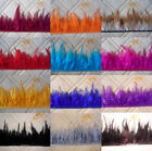 Beautiful pheasant Neck Feather Fringe Trim 3-5 inch 13 color choice