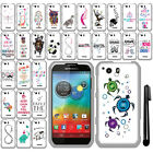 For Motorola Photon Q 4G LTE XT897 Art Design PATTERN HARD Case Cover + Pen