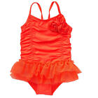 Koala Kids Girls' 1 Piece Rosette Accent Mesh Tutu Swimsuit - Toddler