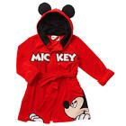 Disney Boys' Red Mickey Mouse Bathrobe