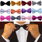 10Pcs Fashion Men Adjustable Solid Colors Bow Tie Polyester Wedding Prom Party