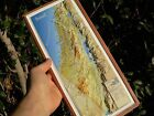 ISRAEL 3-D Topographic Wall MAP Roads Holy Places Bible Land ENGLISH 15