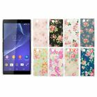 Floral Flower PC Hard Back Cover Case Skin For Sony Xperia Z3 Mini/Z3 Compact