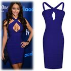 New Women Fashion Sexy Blue Tight Silm Bandage Dress For Party Nightclubs 1PC