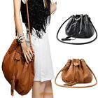Women Bucket Tassels Hobo Handbag Purse Cross Body Messenger Flower Shoulder Bag