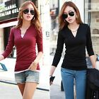 Korean Autumn Winter Fall Lady Women Casual Blouse Slim T-Shirt Tee Top Pullover