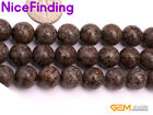 8mm 10mm Brown Jasper Natural Round Stone Beads For Jewelry Making Gemstone 15''