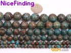 Wholesale Round Smooth Blue Crazy Lace Agate Gemstone Beads For Jewelry Making