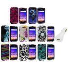 Design Hard Snap-On Case Cover+White Charger for Samsung Galaxy S Blaze 4G T769