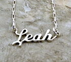 Sterling Silver Name Necklace -Leah -on Drawn Box Necklace -0905