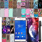 For Sony Xperia Z3 Cute Design SILICONE Rubber SKIN Soft Case Phone Cover + Pen