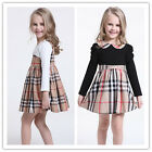 Girl Kid Scottish Top Dress Plaid Ruffle Skirt Check Nova Lattice Outfit Tartan
