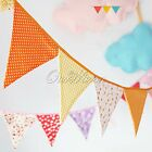 2.4M Handmade Double Side Fabric Flag Bunting Banner Garland Wedding Decorations