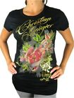 NEW NWT CHRISTIAN AUDIGIER ED HADRY WOMEN'S PREMIUM SHIRT T-SHIRT BLACK HEART