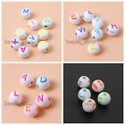 200/1000x New Carved Mixed Color Letter/Smile Face Acrylic Beading Bead Craft BS