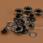 Gunmetal Black Size 4/5/6/8/10/12/14/17mm Solid Brass Eyelets w/Washer Grommets