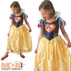 Loveheart Snow White Girls Fancy Dress Disney Fairytale Kids Childrens Costume