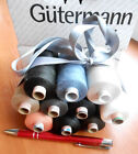 10 pcs or 14   different GUTERMANN AMANN  Thread Spools white black blue red