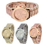 New Ladies Women Girl Unisex Stainless Steel Quartz Wrist Watch Chic Xmas Gift image
