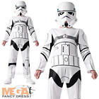 Stormtrooper + Mask Boys Fancy Dress Star Wars Sci Fi Kids Childs Costume Outfit
