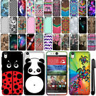 For HTC Desire EYE Cute Design TPU SILICONE Rubber SKIN Case Phone Cover + Pen
