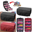 Women Travel Cosmetic Bag 4 Zipper Compartment Toiletries Makeup Case Organizer