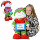 Cute 61cm Soft Body Standing Girl Or Boy Snowman Festive Christmas Decoration