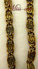 Paperclip Scroll VINTAGE SOLID Yellow BRASS Chain Necklace ALL SIZES Miss-art