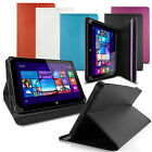 """LUXFOLIO STAND LEATHER CASE WALLET FOR VODAFONE SMART TAB 4 4G 8"""" TABLET"""