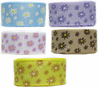 """16mm 5/8"""" Spring Flower Daisy Occasions Grosgrain Ribbon Eco Premium CLEARANCE"""