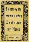 A4 Parchment Poster Quote Abraham Lincoln - FRIENDS - Greeting Card Option