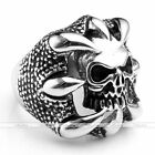 1pc Dragon Claw Skull Head Men's Stainless Steel Finger Ring Fashion Jewelry New