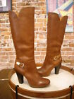 Sofft Felicia Tan Brown Leather Knee High Boots NEW