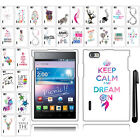 For LG Intuition Optimus Vu VS950 Cute Design PATTERN HARD Case Cover + Pen