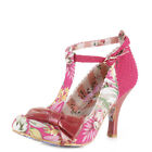 WOMENS IRREGULAR CHOICE BLOXY PINK MULTI HIGH HEELS T BAR SHOES LADIES SIZE