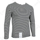 Genuine RUSSIAN Black Striped T-Shirt MARINES Military Long Sleeve Top All Sizes