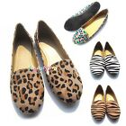 Womens Canvas Comfort Loafer Casual Ladies Ballet Flat Shoes Size 5.0-5.5