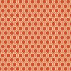 ORANGE - WALKABOUT DOT by MAKOWER 100% COTTON FABRIC PATCHWORK