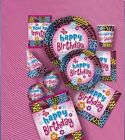 WILD BIRTHDAY Party Items (Tableware, Balloons and Decorations)