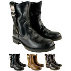 Womens Fly London Nota Leather Side Buckle Pull On Mid Calf Boots Ladies 5-10