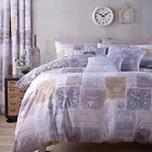 Catherine Lansfield A Timely Reminder Stamp Love Duvet Quilt Cover Bedding Set