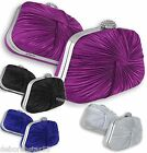 Evening Bag Blue Black Purple Silver Party Prom Bridal Clutch Bag Purse Handbag