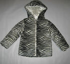 New Toddler Girls Size 5 Hooded Zebra Faux Fur Winter Jackets Coats by XOXO