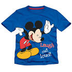 "Disney Boys Blue Mickey Mouse ""Laugh out Loud"" Graphic Short Sleeve T Shirt- Tod"