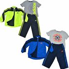 Adidas Kids Track Suit Boys Zip Jacket Pants Graphic T Shirt 3 Pc Set New Cb001