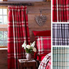 Catherine Lansfield Kelso Tartan 66x72 Ready Made Fully Lined Curtains