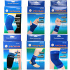 Внешний вид - 2 Pcs Brace Elastic Muscle Support Compression Sleeve Sport Pain Relief New Blue