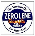 Zerolene Motor Oil Magnets Vinyl Stickers Decals Motor Oil Gas Globes