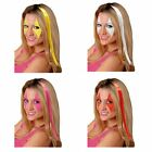 Fashion Highlight Color 38cm Long Clip In Hair Extensions Single Piece Cosplay